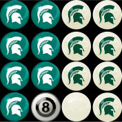 Michigan State Home Vs. Away Billiard Ball Set