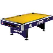 San Diego Chargers 8'L Pool Table