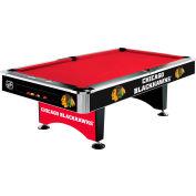 Chicago Blackhawks 8'L Pool Table