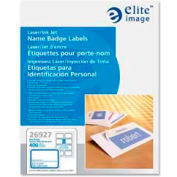 "Elite™ Laser/Inkjet Image Name Badge Labels, 3-3/8"" x 2-1/3"", Blue Border, 400/Box"
