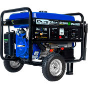 DuroMax XP4400EH Hybrid Propane or Gasoline Powered Portable Generator, Duel Fuel, 4,400W