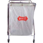 Impact® Cart Collector Chrome 6 Bushel White Pak Cloth Bag, 193