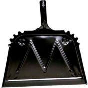 "Impact® Metal Dust Pan - 16"", Black, 4216 - Pkg Qty 12"