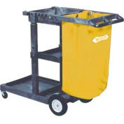 Impact® Janitor Cart Replacement Bag - 25 Gallon, Yellow, 6851 - Pkg Qty 4