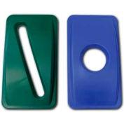 Impact® Thin Bin™ Lid - 23 Gallon W/ Round Recycle Cut Out - Blue, 7025-11 - Pkg Qty 4