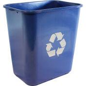 Impact Pinch'M Rectangular Soft-Sided Plastic Recycle Wastebasket-28 Qt.,Blue, 7702-11r - Pkg Qty 12