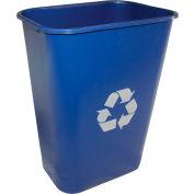 Impact Pinch'M Rectangular Soft-Sided Plastic Recylce Wastebasket-41 Qt., Blue, 7703-11r - Pkg Qty 12