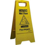 Impact® Wet Floor Sign - Yellow/Black, English/Spanish, 9152w - Pkg Qty 10
