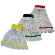 Impact Cotton/Synthetic Blend Saddle-Type Looped-End Wet Mop w/Tailband-Medium, L166md - Pkg Qty 12