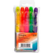 Integra™ Liquid Highlighter, Chisel Tip, Assorted Ink, 5/Set