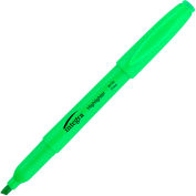 Integra™ Pen Style Highlighter, Chisel Tip, Fluorescent Green Ink, Dozen