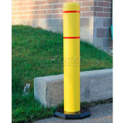 "Innoplast BollardGard Anywhere with 25 lb. Rubber Base, Yellow/No Tape, 4"" x 52"", BGAW452YN"