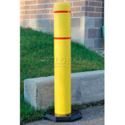 "Innoplast BollardGard Anywhere with 25 lb. Rubber Base, Yellow/No Tape, 7"" x 52"", BGAW752YN"
