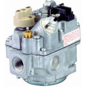 "Gas Valve - 1/2"" Inlet, Straight-Thru Side Outlets, Uni-Kit Pressure Reg"