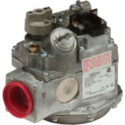 """Gas Valve - 1"""" Inlet, Straight-Thru Side Outlets, 3.5"""" W.C. Nat. Gas"""