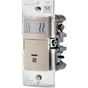 Leviton Humidity Sensor and Fan Control IPHS5-1LT, 120VAC, 60Hz, Single Pole, Light Almond