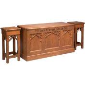 # 200 Closed Communion Table, Dark Oak Stain