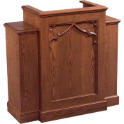 # 200 With Wing Pulpit, Medium Oak Stain