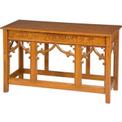 # 205 Open Communion Table, Light Oak Stain
