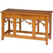 # 205 Open Communion Table, Medium Oak Stain