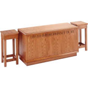 # 400 Closed Communion Table, Light Oak Stain