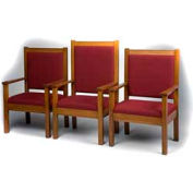 "# 400 Pulpit Chair, 48""H, Medium Oak Stain, Maroon Fabric"