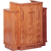 # 400 With Wing Pulpit, With Cross, Light Oak Stain
