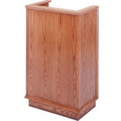 # 401 Single Pulpit, Light Oak Stain