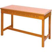 # 405 Open Communion Table, Light Oak Stain