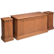 # 500 Closed Communion Table, Medium Oak Stain