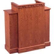 # 500 With Wing Pulpit, Medium Oak Stain