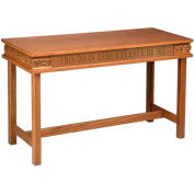 # 505 Open Communion Table, Light Oak Stain