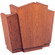 # 700 With Wing Pulpit, Medium Oak Stain