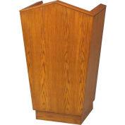 # 701 Single Pulpit, Light Oak Stain