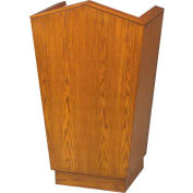# 701 Single Pulpit, Medium Oak Stain