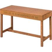 # 705 Open Communion Table, Light Oak Stain
