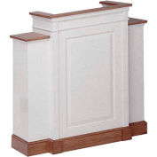 # 820 With Wing Pulpit, Two Tone Colonial White, Dark Oak Stain Trim
