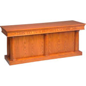 # 8300 Closed Communion Table, Two Tone Colonial White, Light Oak Stain Trim