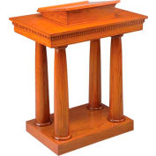 # 8301 Pulpit, Two Tone Colonial White, Medium Oak Stain Trim