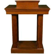 # 8401 Pulpit, Two Tone Colonial White, Dark Oak Stain Trim