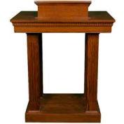 # 8401 Pulpit, Two Tone Colonial White, Dark Oak Stain Trim