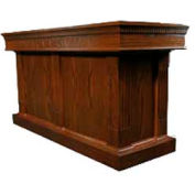 # 8420 Closed Communion Table, Medium Oak Stain