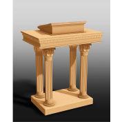 #8500 Series Ornate Open Pulpit, Light Oak Stain