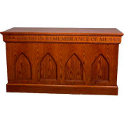 # 900 Closed Communion Table, Light Oak Stain