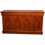 # 900 Closed Communion Table, Medium Oak Stain