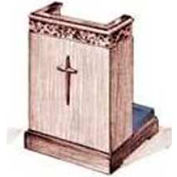 # 500 Prayer Desk, Without Cross, Medium Oak Stain, Aloe Kneeler Cushion