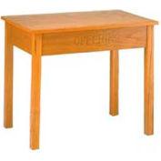 "Offering Table, Locking Drawer, 48""W, Medium Oak Stain"