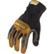 Ironclad RWG2-05-XL Ranchworx Abrasion Resistant Leather Gloves, 1 Pair, Black/Tan, X-Large