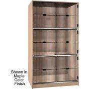 "Ironwood 3 Compartment Black Grill Door 48-1/2"" W Cabinet, Maple Color"
