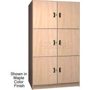 Ironwood 3 Compartment Solid Door Wood Storage Cabinet, Maple Color